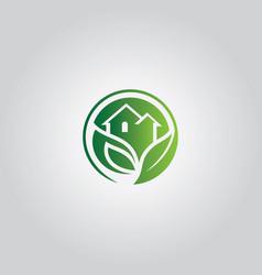 nature home symbol logo vector image vector image