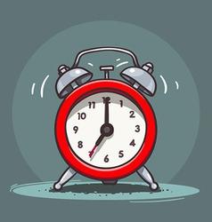 Ringing vintage alarm clock vector image vector image