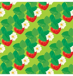 strawberry seamless 4 380 vector image vector image