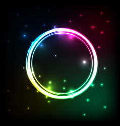 abstract background with colorful circles plasma vector image