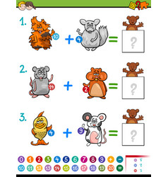 addition educational maths activity for kids vector image