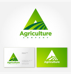 Agriculture logo a monogram farm label packaging vector