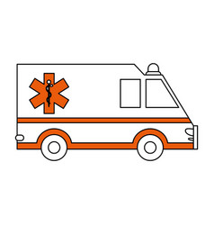 Ambulance healthcare icon image vector