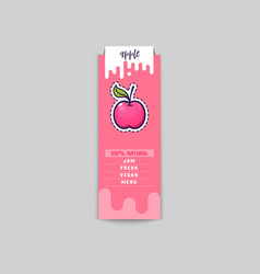 apple bio sticker and eco products apple web vector image
