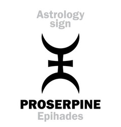 Astrology planet proserpine vector