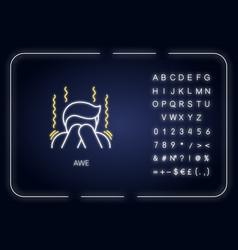 Awe neon light icon vector