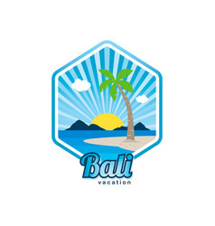 Beach time tropical island bali summer vacation vector