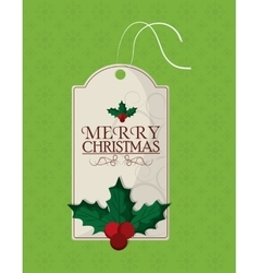Berry and leaves of Christmas season design vector