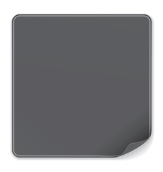 Blank Black Sticker vector image
