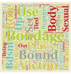 Bondage Bandage text background wordcloud concept vector