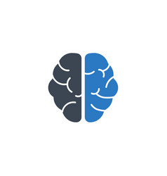 Brain related glyph icon vector
