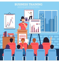 Business Training Template vector