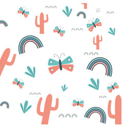 cactus background design vector image