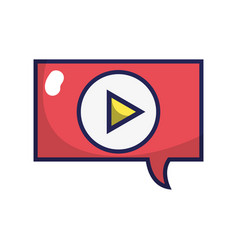 Chat bubble play video message vector
