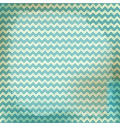 Chevron background on linen turquoise canvas vector