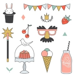 Children party icon - cute vector