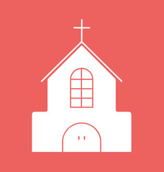Church flat icon with eps10 vector