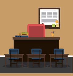 classroom interior room vector image