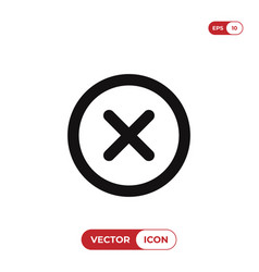 close icon delete remove cancel exit symbol vector image