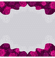 color valentine background with roses vector image