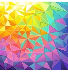 Colorful Low Poly Background vector image