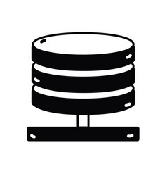 contour database technology to conection server vector image