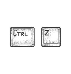 Control z keys sketch vector