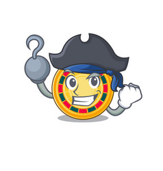 Cool and funny roulette cartoon style wearing hat vector