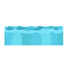Cross section blue water slice isolated some piece vector