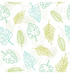 Cute doodle tropical pattern vector image