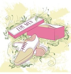 Decorative fashion mens shoes vector