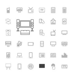 Display icons vector