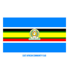 East african community flag on white background vector