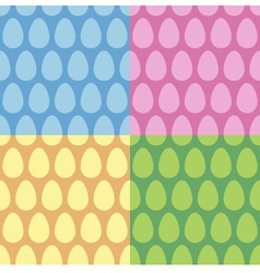 Easter Egg seamless pattern and background set vector image