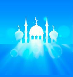 Eid mubarak cover islamic beautiful vector