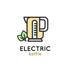 Electric kettle modern simple icon vector