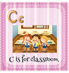 Flashcard letter c is for classroom vector