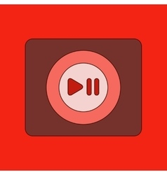 Flat icon on background music player vector