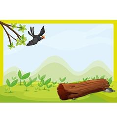Flying bird in beautiful nature vector image