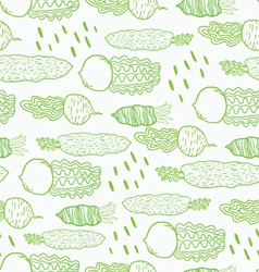 Fun beetroot and radish seamless pattern vector image