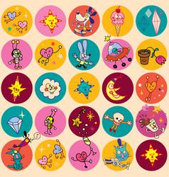 fun cartoon characters vector image