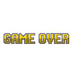 game over pixel background vector image
