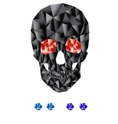 Geometric skull vector image