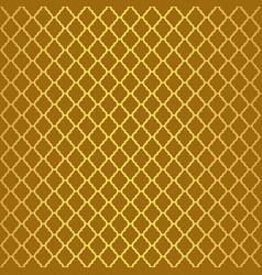 Gold luxury moroccan motif tile pattern vector