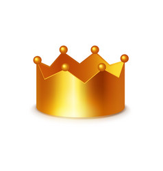 golden crown clipart on white vector image