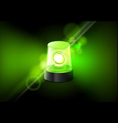 green siren flasher lamp urgency ambulance siren vector image