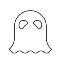 Halloween character haunt ghost character icon vector