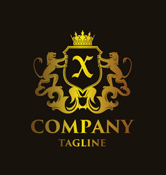 Luxury letter x logo vector
