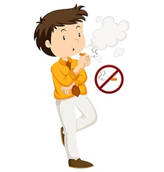 Man smoking and non-smoking sign vector
