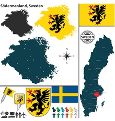Map of Sodermanland vector